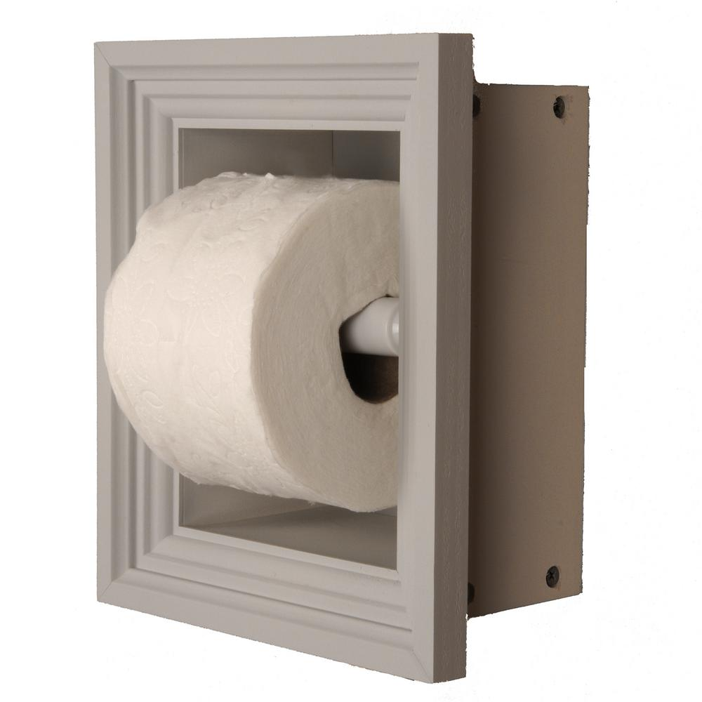 Newton Recessed Toilet Paper Holder In Primed With Newport