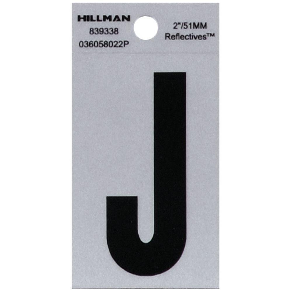 HY-KO 2 in. Vinyl Reflective Letter J-RV-25/J - The Home Depot