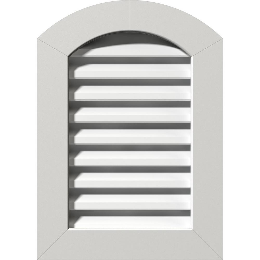 Ekena Millwork 23 In X 35 In Pvc Functional Arch Top Gable Vent