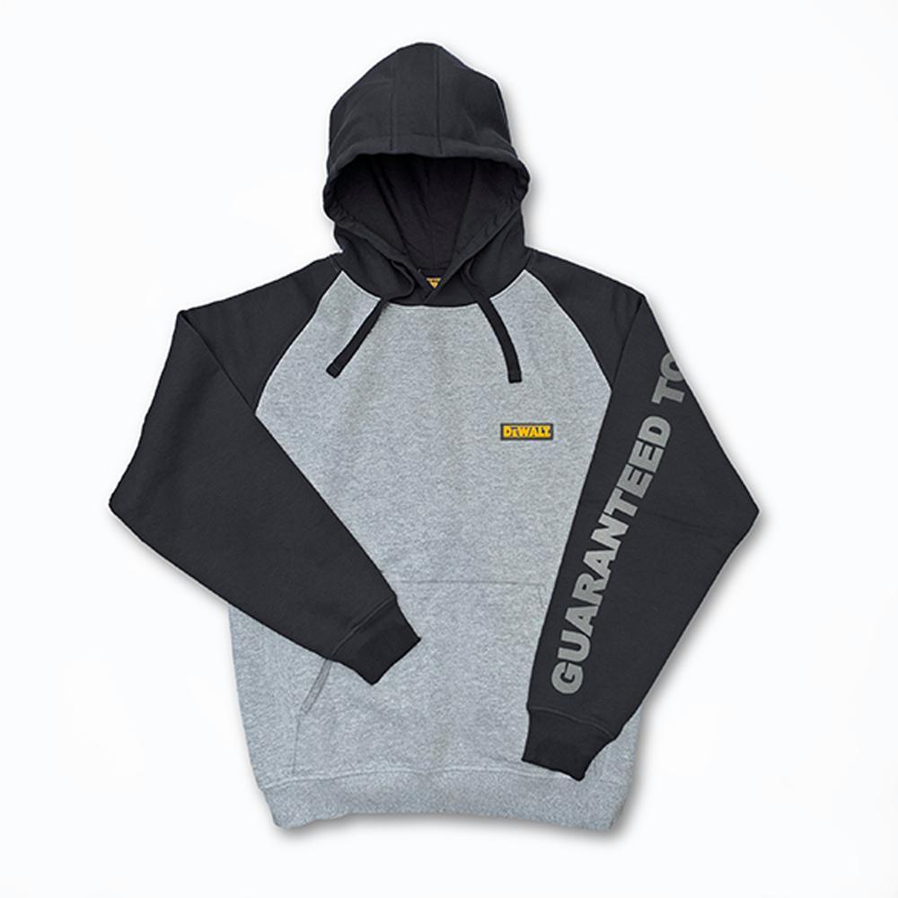 DEWALT Carson Men's Large Heather Grey/Black Cotton/Polyester Hooded Sweatshirt