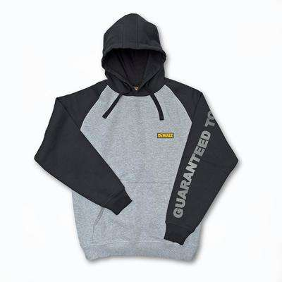 Carson Men's X-Large Heather Grey/Black Cotton/Polyester Hooded Sweatshirt