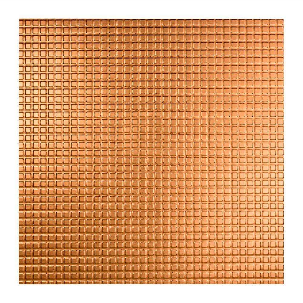 Fasade Square - 2 ft. x 2 ft. Lay-in Ceiling Tile in Polished Copper
