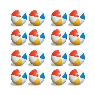 Inflatable 36 in. Pool Classic Rainbow Giant Beach Balls (16-Pack)