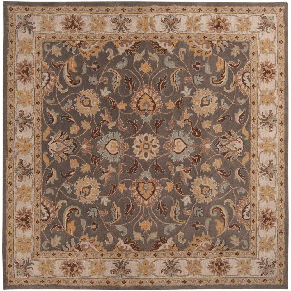 John Charcoal Gray 6 ft. x 6 ft. Square Area Rug