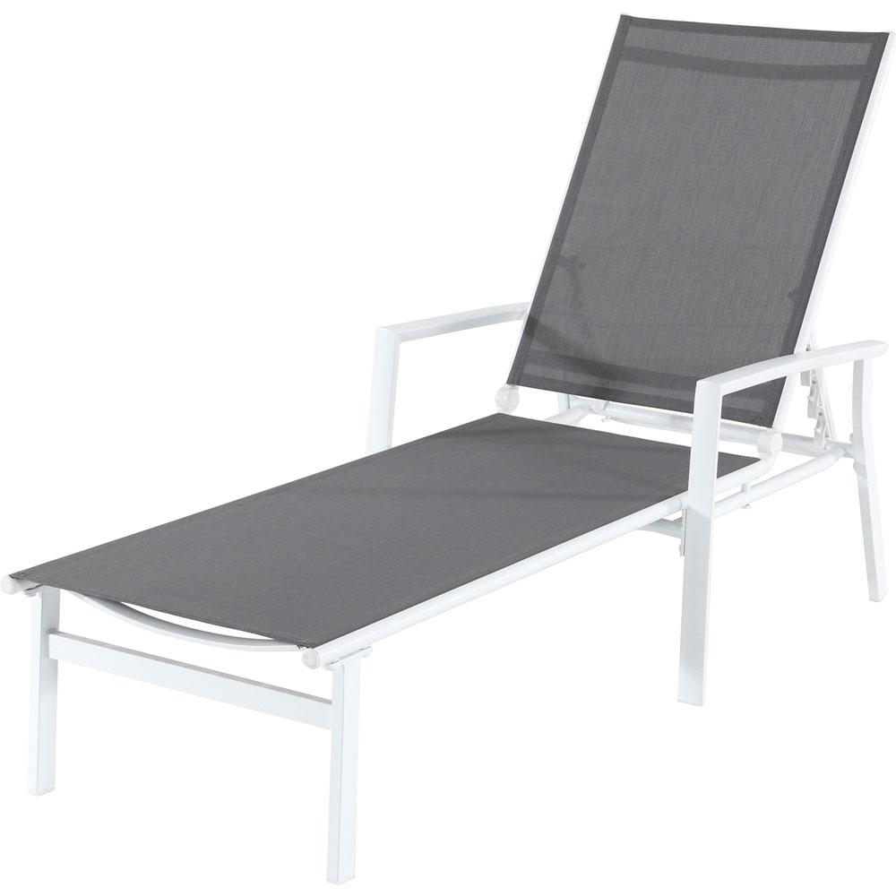 Harper Aluminum Outdoor Chaise Lounge in Gray