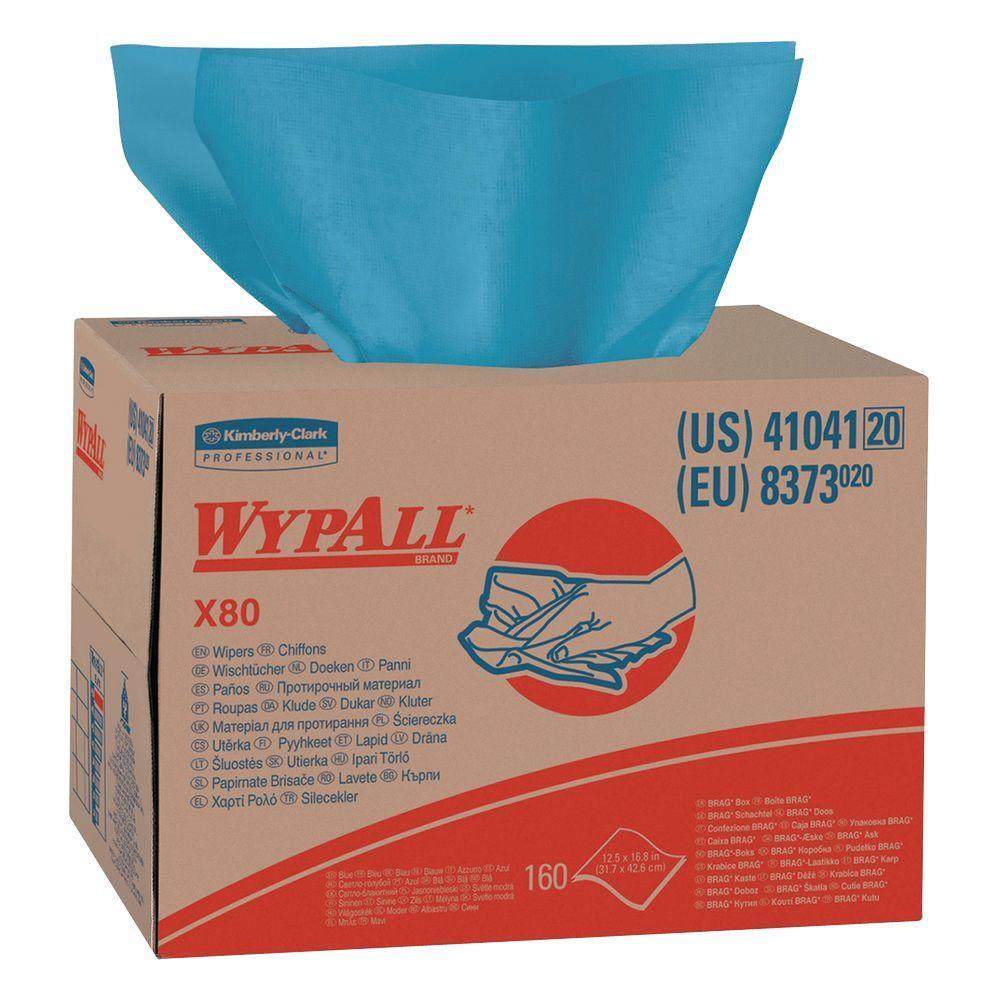 X80 Blue Wipers Brag Box (160-Box)