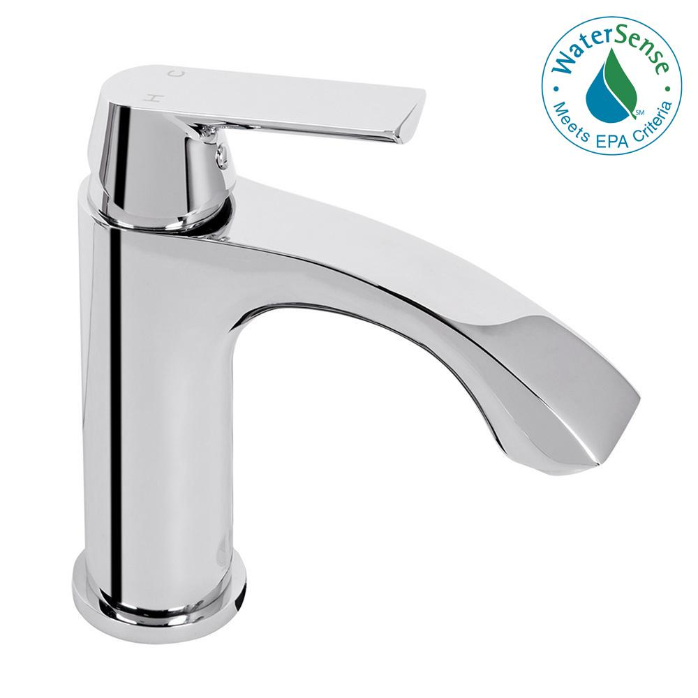 VIGO Penela Single Hole 1-Handle Bathroom Faucet in PVD Brushed ...