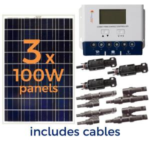 Deals on Grape Solar 300-Watt Off-Grid Solar Panel Kit GS-300-KIT