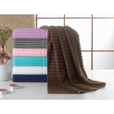 Piano Collection 27 in. W x 55 in. H 100% Turkish Cotton Luxury Bath Towel in Brown (Set of 2)