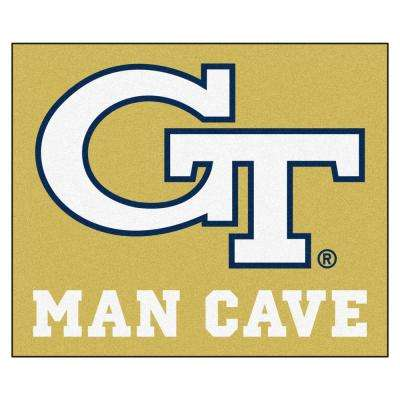 Georgia Tech Gold Man Cave 5 ft. x 6 ft. Area Rug