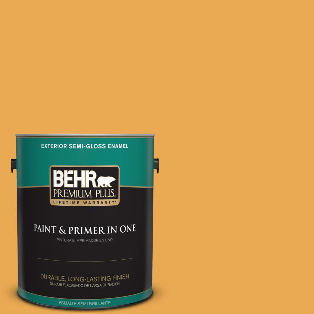 1-gal. #BIC-43 Optimist Gold Semi-Gloss Enamel Exterior Paint