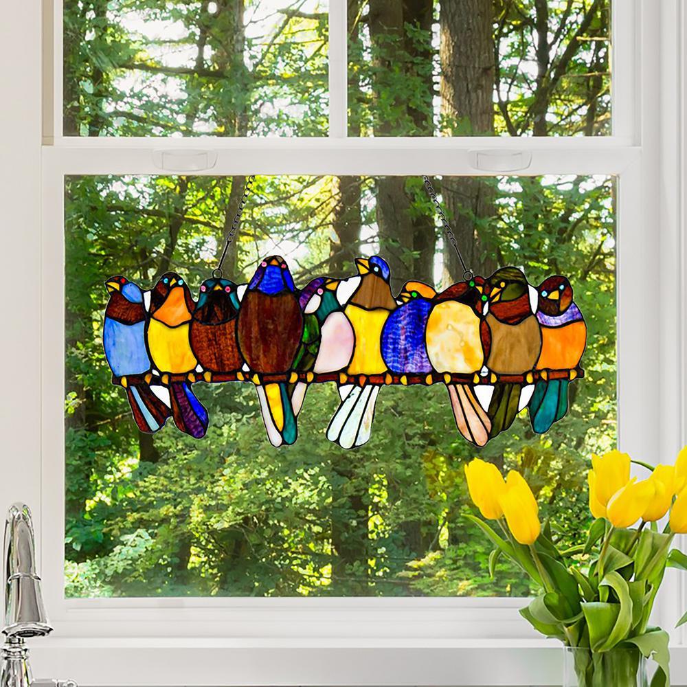 Bird Suncatcher Sun Catcher Stained Glass-style window hanging