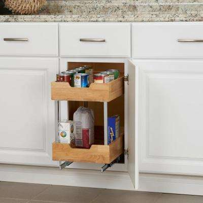 11.5 in. Wood Cabinet 2 Tier Organizer in Chrome
