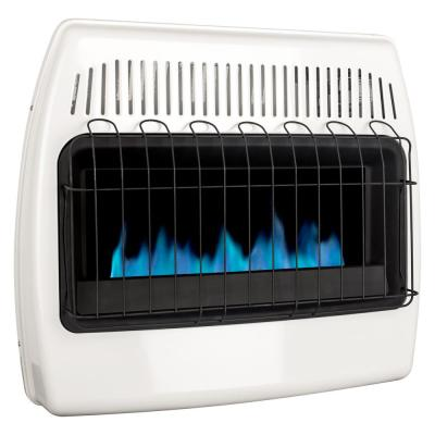Thermostatic 30,000 BTU Blue Flame Vent Free Dual Fuel Wall Heater