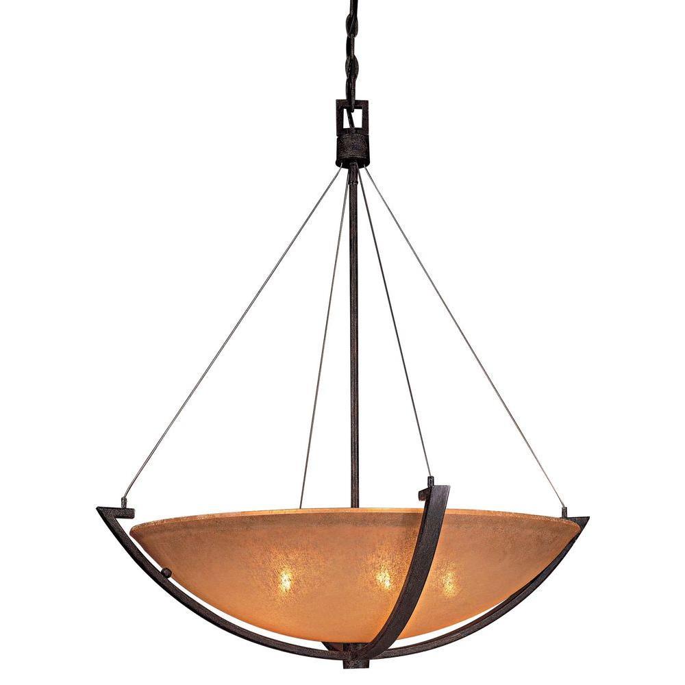 Minka Lavery 5-Light Iron Oxide Bowl Pendant-DISCONTINUED