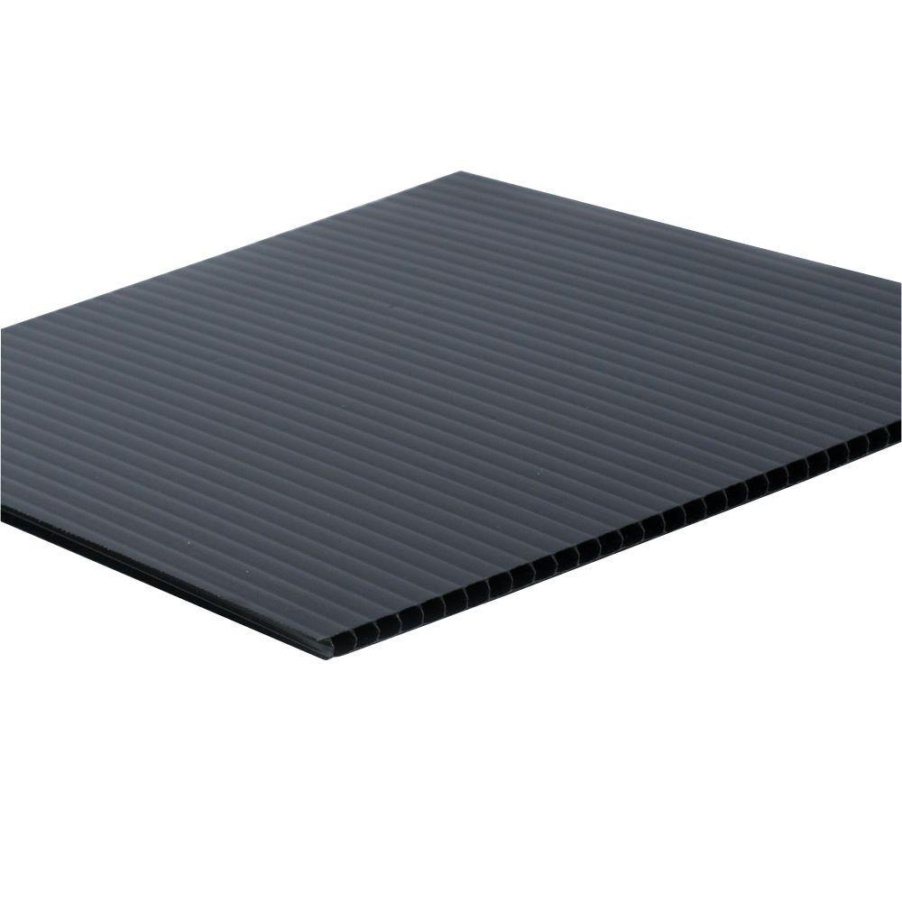 6mm Black 24 x 48 25 pack Corrugated Plastic Coroplast Sheets Sign