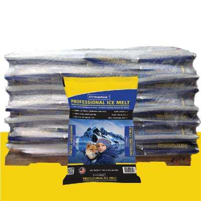 50 lb. Screened Pro Ice Melt (3 Way Blend) w/Corrosion Inhibitor, Anti-caking Agent and Color Indicator pallet (49 Bags)