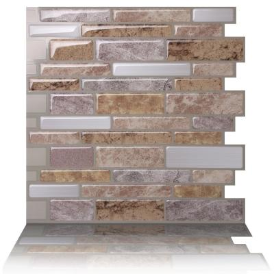 Polito Fresco 10 in. W x 10 in. H Peel and Stick Self-Adhesive Decorative Mosaic Wall Tile Backsplash (5-Tiles)