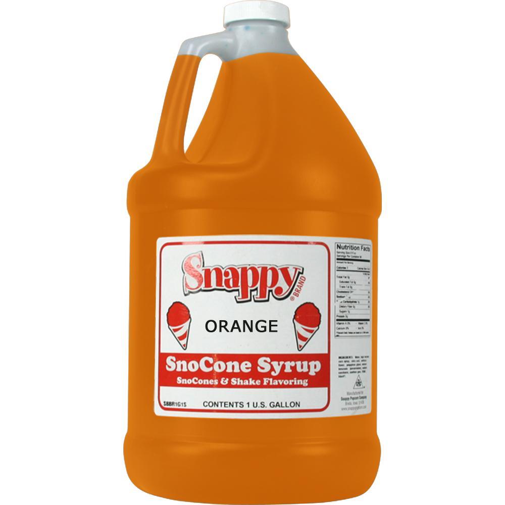 Snow Cone Syrup. 1 Gal. Orange
