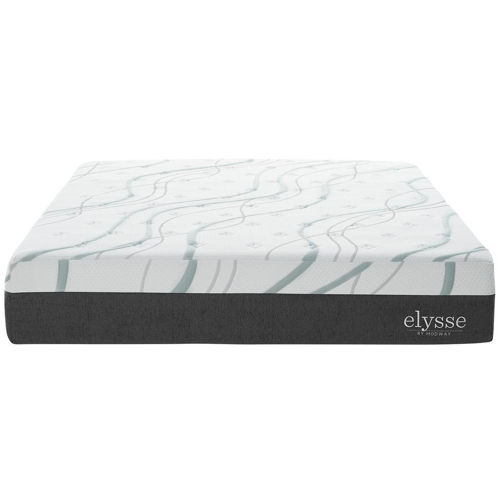 MODWAY Elysse Queen CertiPUR-US Certified Foam 12 in. Gel Infused Hybrid Mattress in White