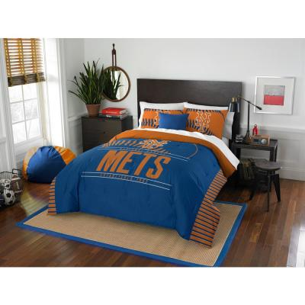 Mets 3-Piece Multicolored Full Comforter Set