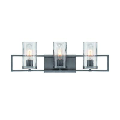 Elements 3-Light Charcoal Interior Incandescent Bath Vanity Light