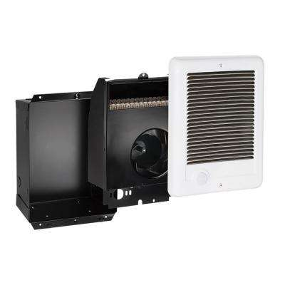 Com-Pak 750-Watt 240-Volt 2559-BTU Fan-Forced In-Wall Electric Heater with No Thermostat in White