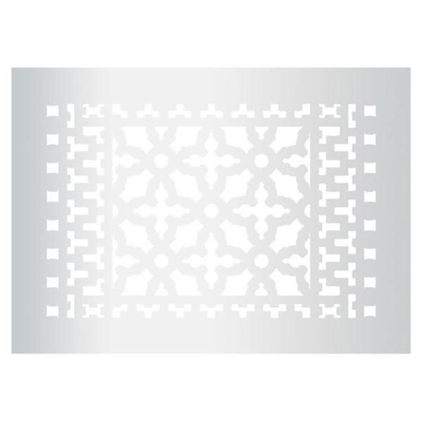 Reggio Registers Scroll Series 12 In X 8 In Aluminum Grille Gray With Mounting Holes 1014 Ah The Home Depot
