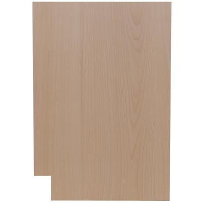Easthaven Shaker 23.75x34.5x0.5 in. Base End Panel in Unfinished Beech