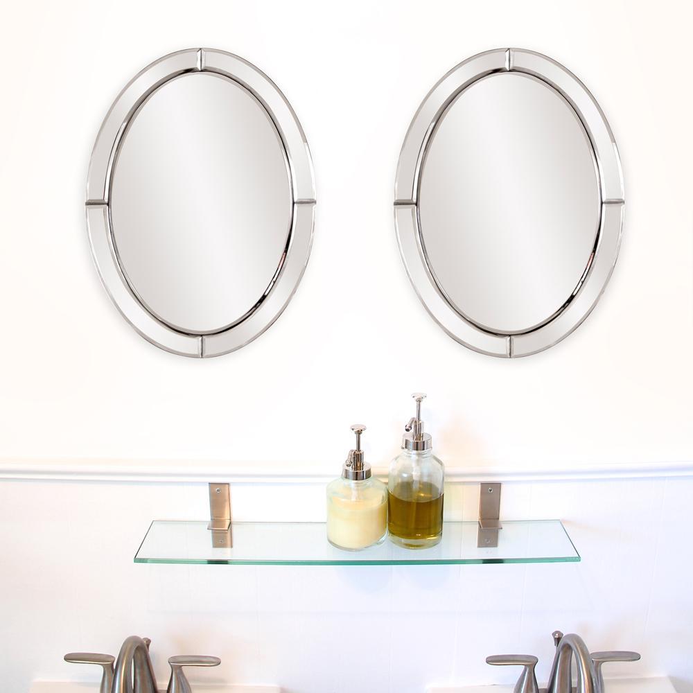 16 in. x 12 in. Opal Oval Mirror