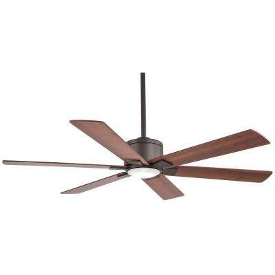 Renwick 54 in. Integrated LED Indoor Oil Rubbed Bronze Ceiling Fan with Remote Control