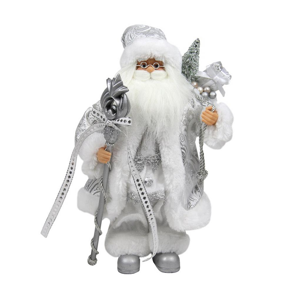Santas Workshop Golden Splendor Claus Figurine 15 Tall White Gold Home Décor Accents Home Décor