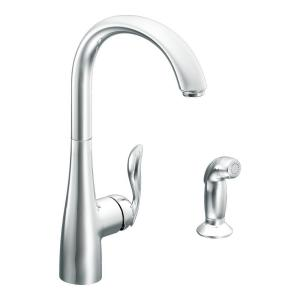 Arbor High-Arc Single-Handle Standard Kitchen Faucet with Side Sprayer in Chrome