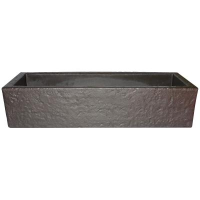 39 in. x 14.5 in. Bronze Colored Resin Window Trough Planter