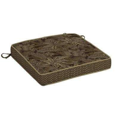 Palmetto Espresso Snap Dry Outdoor Seat Cushion