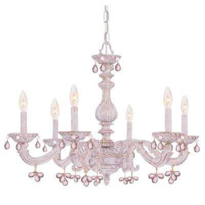 6-Light Antique White Chandelier - White - Chandeliers - Lighting - The Home Depot