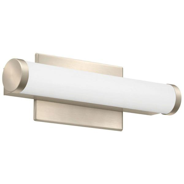 Lithonia Lighting Contemporary Cylinder 3K LED Vanity Light 2-Foot Brushed