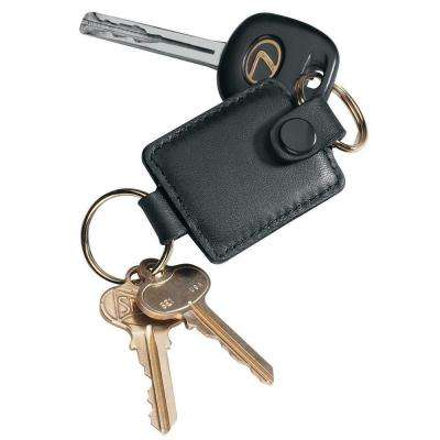 Genuine Leather Executive Key Fob Organizer in Black