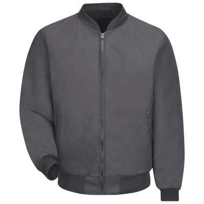 Men's 3X-Large Charcoal Solid Team Jacket