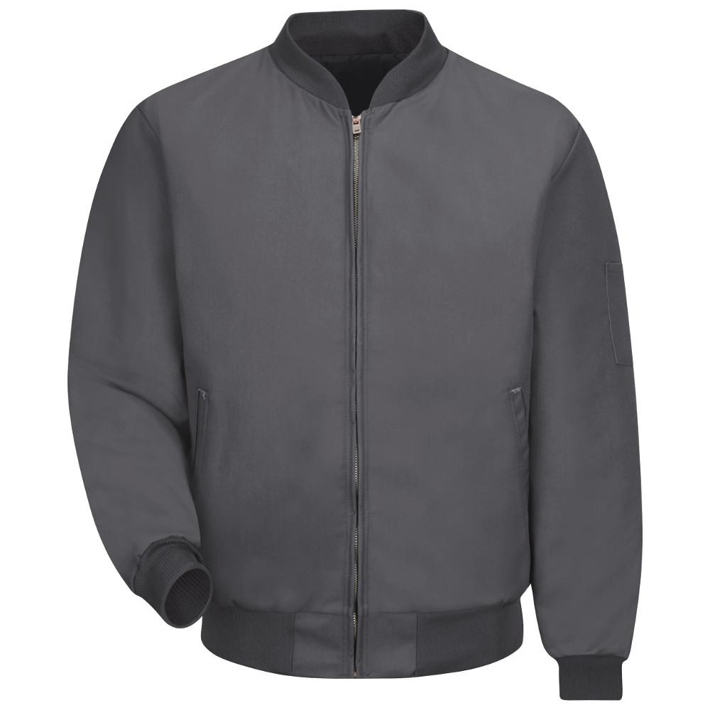 Red Kap Men s Small Charcoal Solid Team Jacket-JT38CH RG S - The ... 8bc04004afa