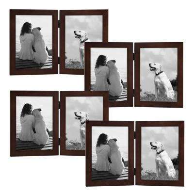 Gallery 2 Opening 5 in. x 7 in. Walnut Brown Picture Frame (Set of 4)