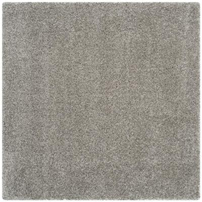 California Shag Silver 7 ft. x 7 ft. Square Area Rug