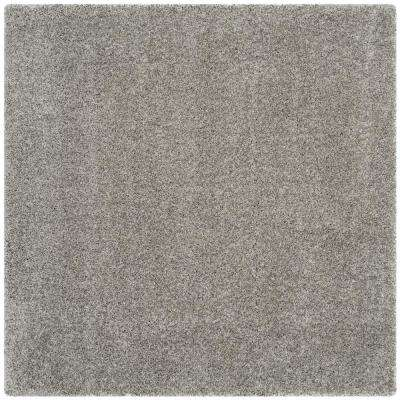 California Silver 9 Ft X Square Area Rug