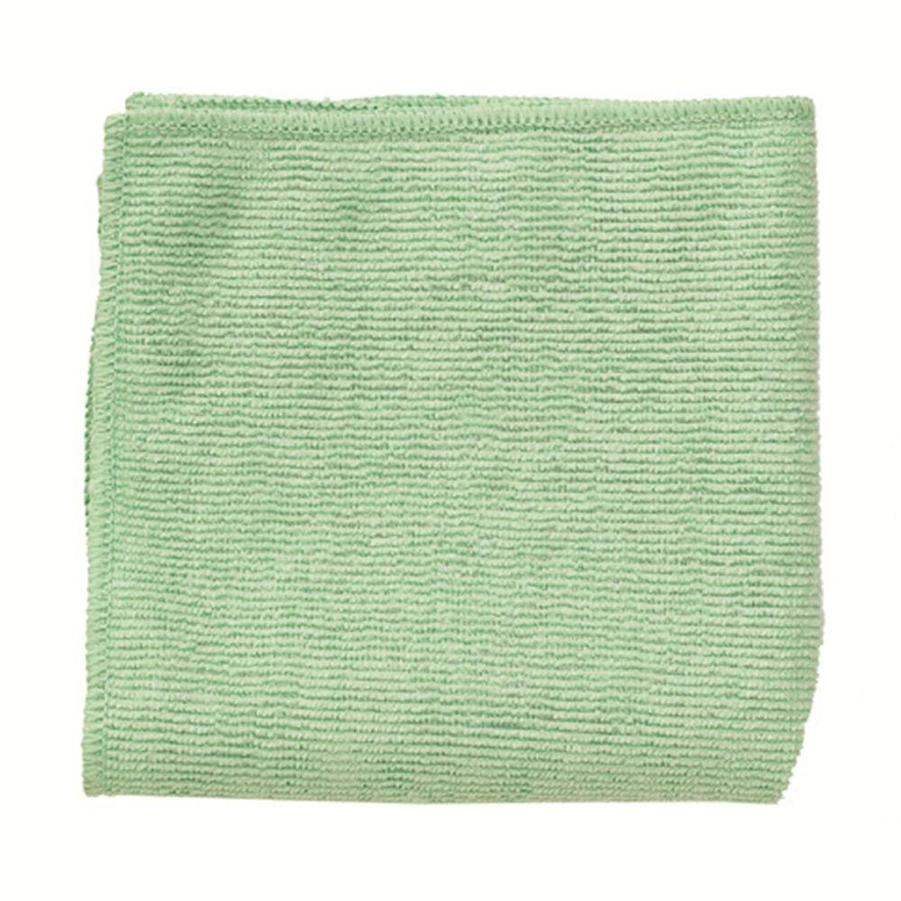 16 in. x 16 in. Light Commercial Green Microfiber Cloth (24-Count)
