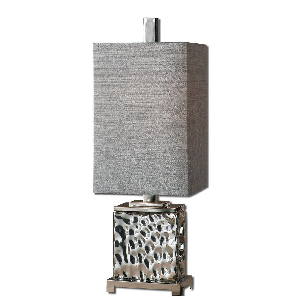Global Direct 32 in. Nickel Buffet Lamp