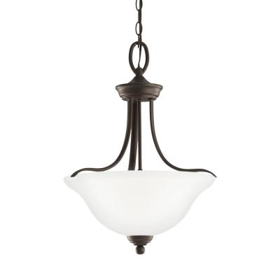 Wheaton 3-Light Heirloom Bronze Pendant with LED Bulbs
