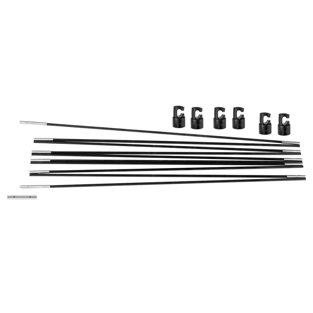 Upper Bounce Varillas de Fibra de Vidrio para Repuesto de Anillo para Trampol/ín Redondo con 6 Postes