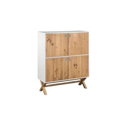 Barclay 49.4 in. High White and Natural Wood Dresser