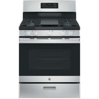 30 in. 5.0 cu. ft. Free-Standing Gas Range in Stainless Steel