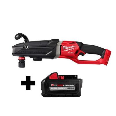 M18 FUEL 18-Volt Lithium-Ion Brushless Cordless GEN 2 SUPER HAWG 7/16 in. Right Angle Drill with Free 8.0 Ah Battery